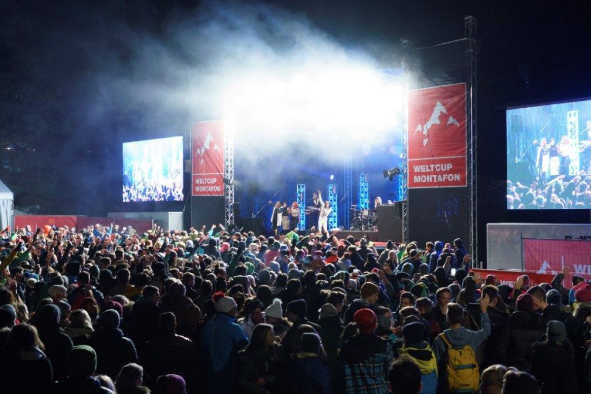 Aftershow Party des Skicross Weltcup
